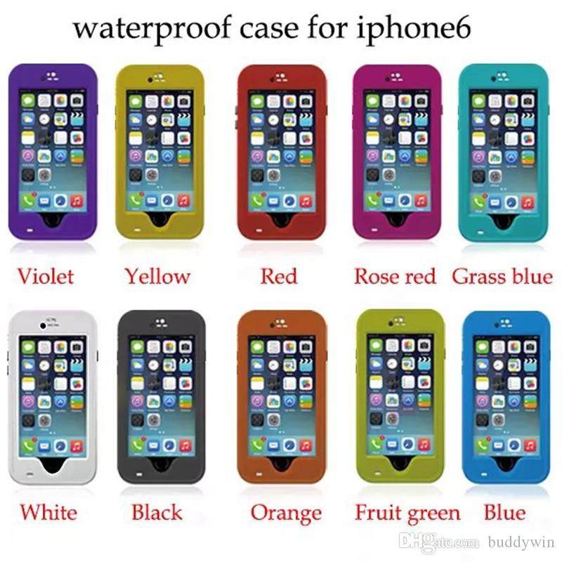 Redpepper Waterproof Case Cover Shockproof Anti-dust With Strap Stand Holder for iphone 6plus 6 5 5S With Retail Box 10 Colors