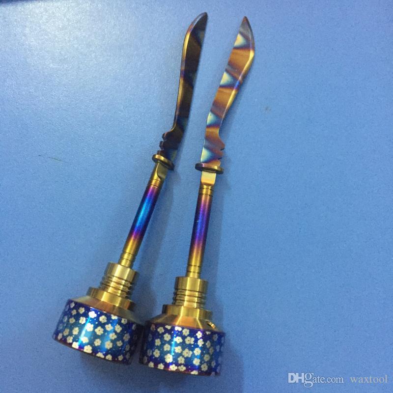 Радуга Титана карбюратора инструмент Cap Domeless Ti ногтей Титана прямой меч Dab инструмент с карбюратора Cap Dabber
