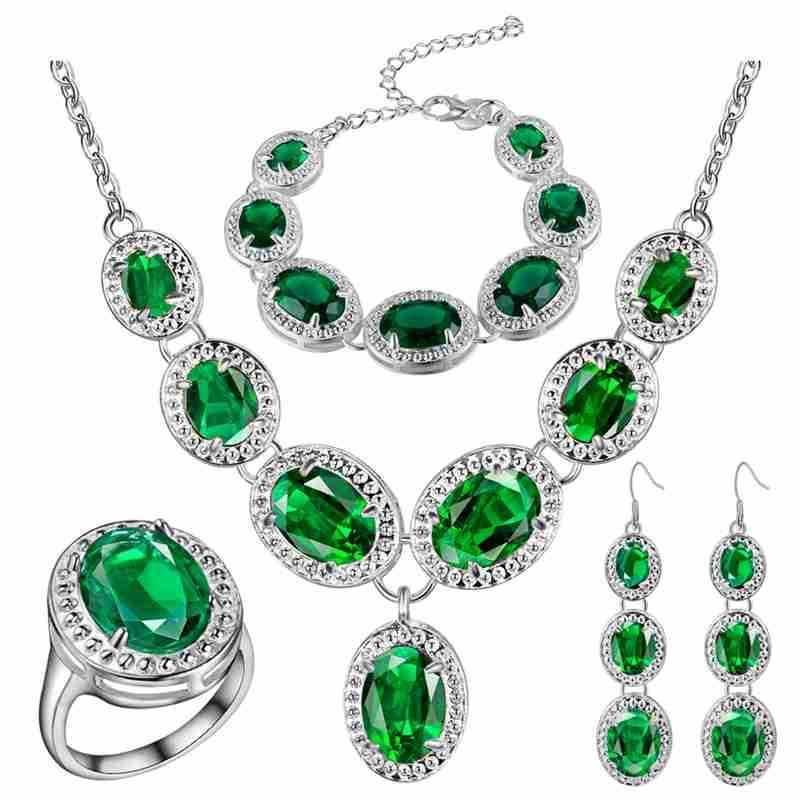 Set di gioielli in argento spessi di un nuovo set di tesori di colore alla moda di bellissimi U.S.