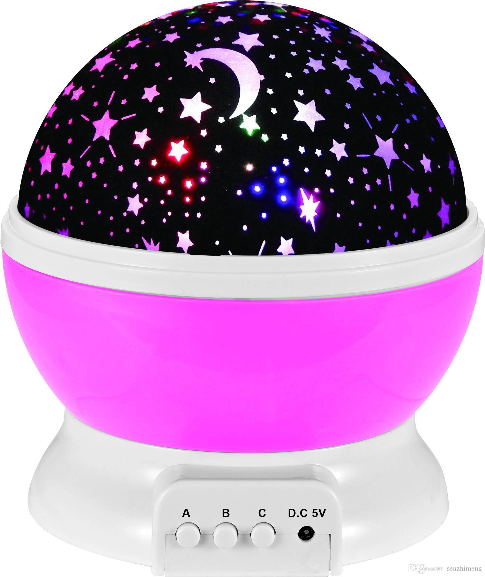 2017 Colorful Starlight Вращающийся мечты Романтика Globe Starlight Starlight Projection Lamp USB Connection Батарея Праздничный свет Пасха.