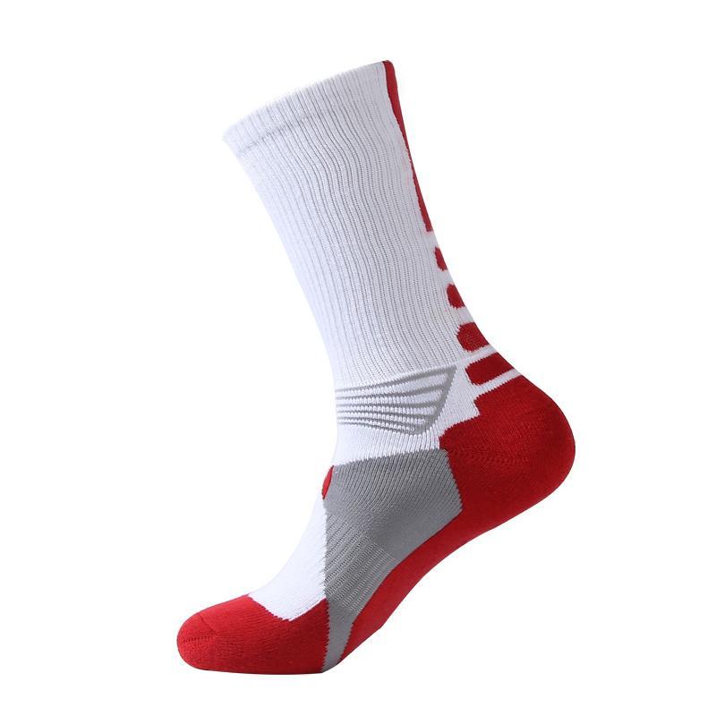 Erkekler Patchwork Elit Spor Çorap Yeni Futbol Ve Basketbol Çorap Profesyonel Açık Futbol Ekip Çorap ücretsiz kargo