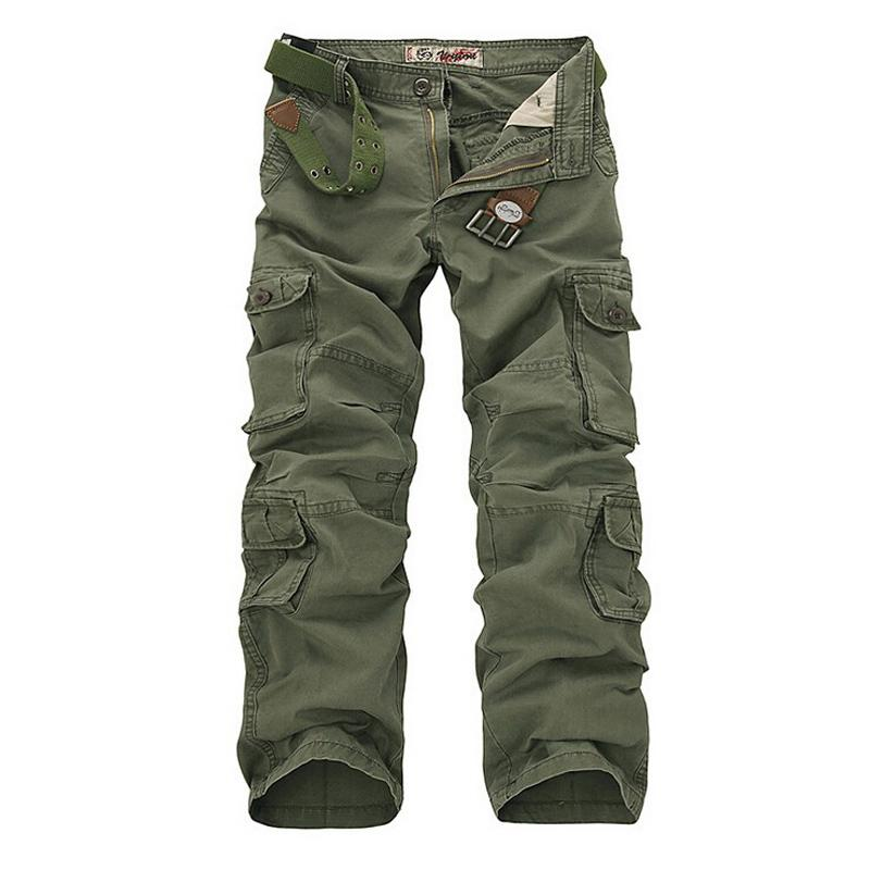 latest collection uk store reasonable price 2019 Wholesale Army Green Men'S Cargo Pants Khaki Black Loose Tactical Pant  Multi Pockets Cotton Baggy Trousers Men Outer Overalls Man 28 44 From ...