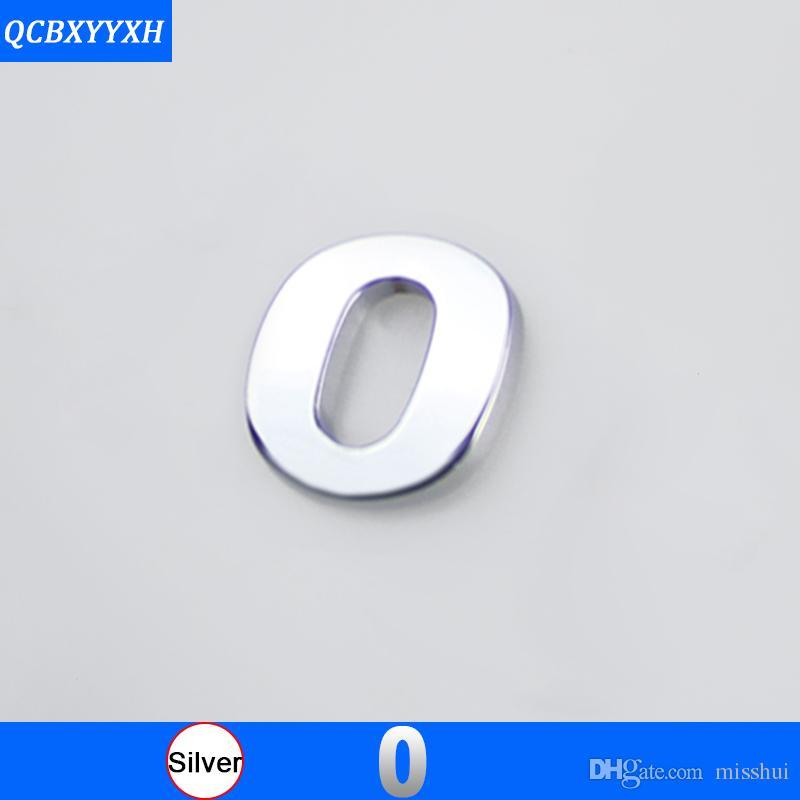 1PC DIY Chrome ABS Alfabeto lettera 3D Numero decalcomanie Simbolo Emblema Badge Sticker per Mercedes Audi Nissan VW Ford Toyota Honda