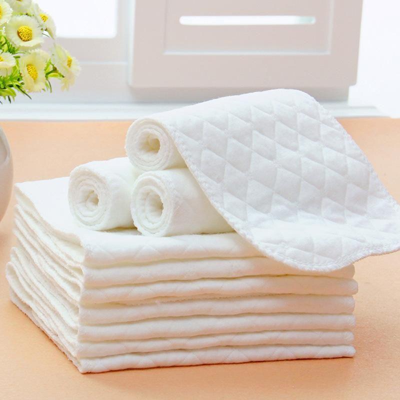 Almohadillas cambiadoras para bebés Pañales para bebés Pañales de algodón Eco de bambú Productos para bebés Pañales Pañales unisex Lavable con repetido para el cuidado de niños 32x12cm