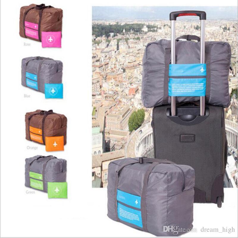 32L 대용량 수하물 포장 토트 / 숄더 여행 쇼핑 큰 접는 가방 의류 보관 파우치 주최자 직접 운송에 갈아 입을 옷 트롤리 가방
