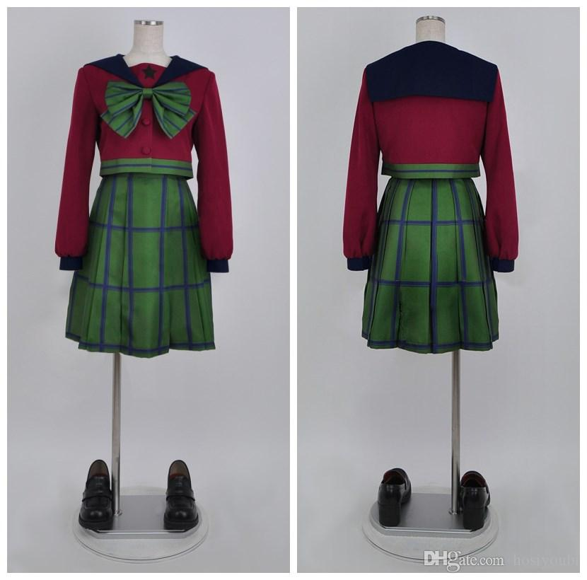 SuperS Sailor Moon Michiru Kaiou / Hotaru Tomoe Sailor Uranüs mugen gakuen kızlar kış üniforma cosplay elbise cadılar bayramı kostümleri