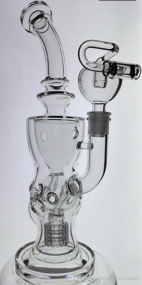 FTK 2017 regalo di natale bong di vetro Fab Torus Klien riciclatore tubi di acqua oil rig narghilè 14.4mm giunto femminile buona funzione di alta qualità