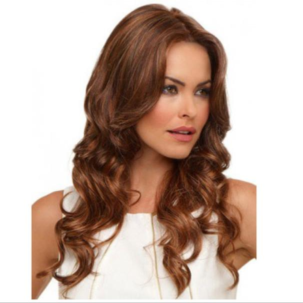 Perruques à deux tons bouclés à la mode pour femmes ondulées Synthetic Cheveux Synthétiques Perruques à ondes à semi-blonde Synthetic Cheveux DHL BEA450