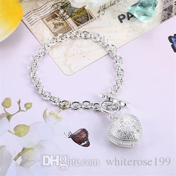 Wholesale - Retail lowest price Christmas gift, free shipping, new 925 silver fashion Bracelet Bh062
