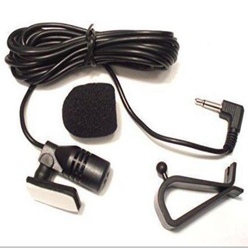 100шт 3,5 мм стерео автомобиля Внешний микрофон для Bluetooth Enabled стерео GPS DVD Радио