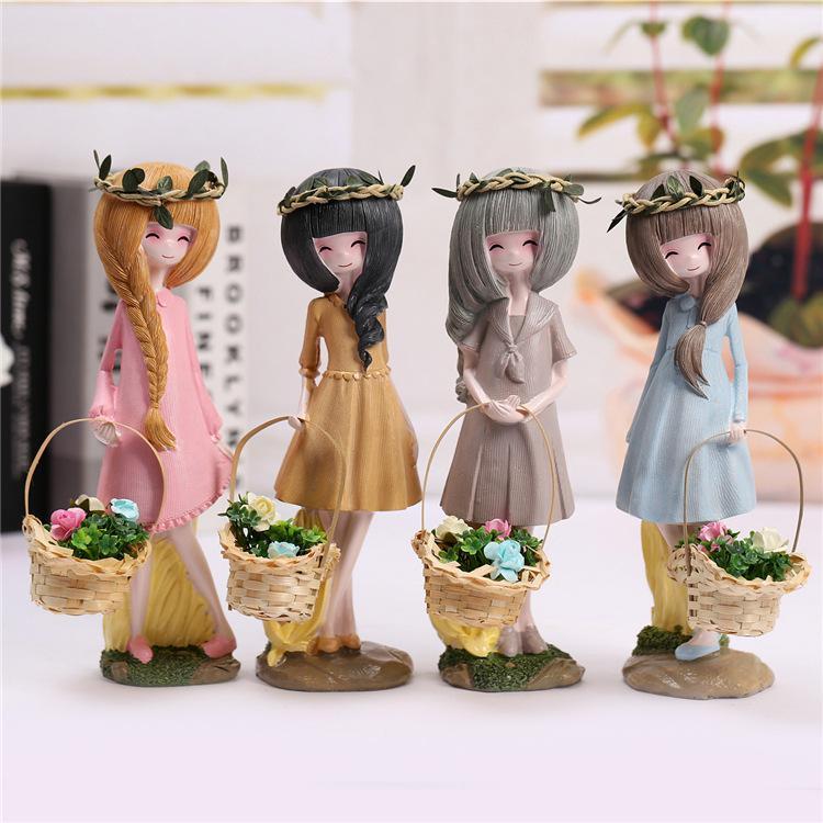 Presentes criativos Casa Mobiliário menina Hua Xianzi micro paisagem Mobiliário Doméstico resina decoração presente estudantes