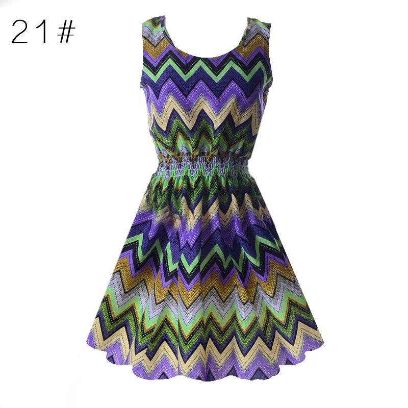 Wholesale- 2017 Sexy Chiffon Sleeveless Sundress Women Party Dresses Summer Beach Floral Tank Mini Dress XXL Vestidos Dresses for Women