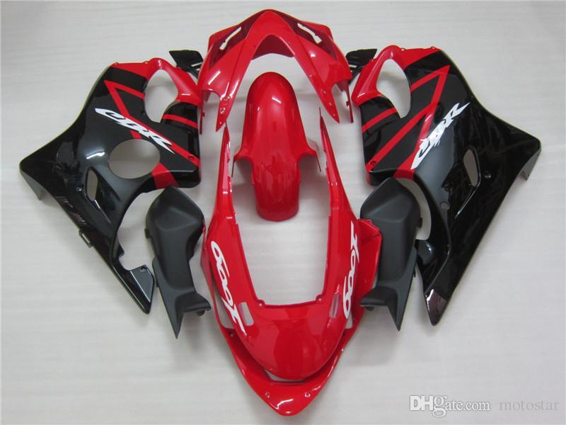 Hot moto parts fairing kit for Honda CBR600 f4I 04 05 06 07 red black fairings set CBR600F4I 2004-2007 OT09