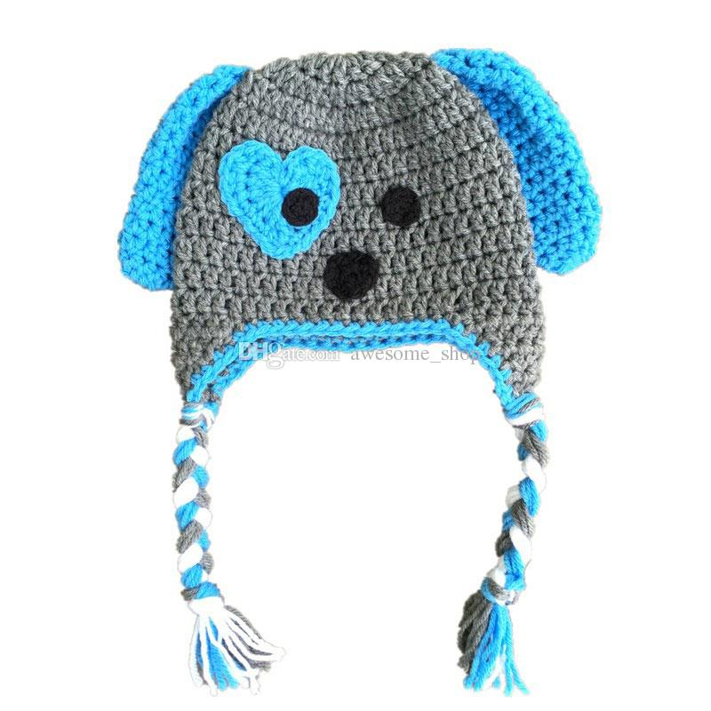 nuovo autentico a basso prezzo 100% di alta qualità Acquista Novità Adorabile Cappello Blu E Grigio Cucciolo, Cappello ...