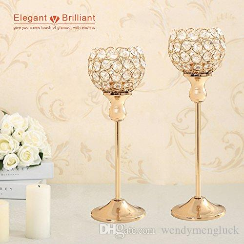 Wedding Table Centerpieces Candelabra Crystal Candlesticks Tealight Candle Holders for House Holiday Decoration Mothers Day Best Gift