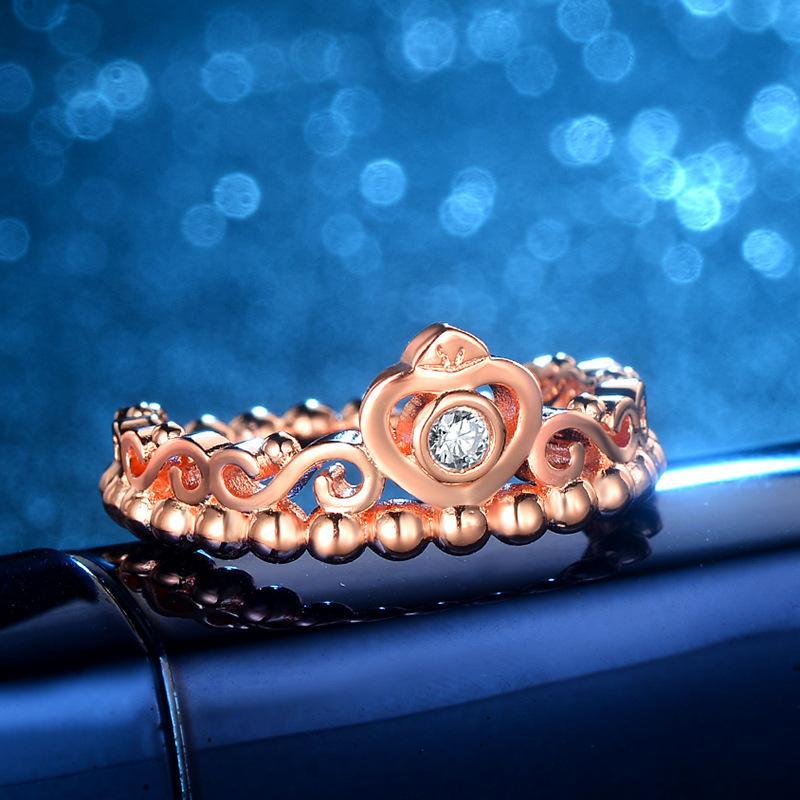 NUOVO ARRIVO VENDITA CALDA speciale stile europeo in oro rosa colore corona gioielli anello