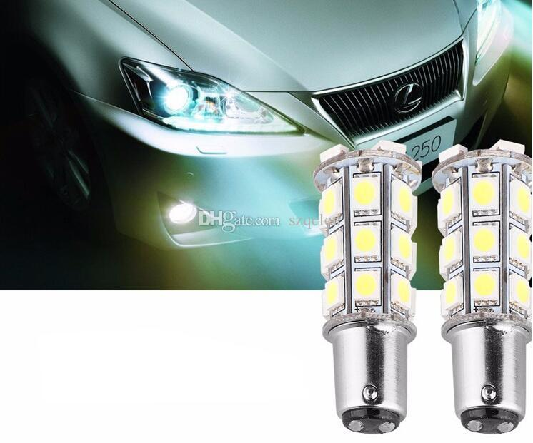Envío gratis 1157/1156 Super White 27 SMD Car Light 12v Bulbo BA15S 1141 1003 RV Camper Remolque Auto Interior Light Lamp Bulbs Luces de freno