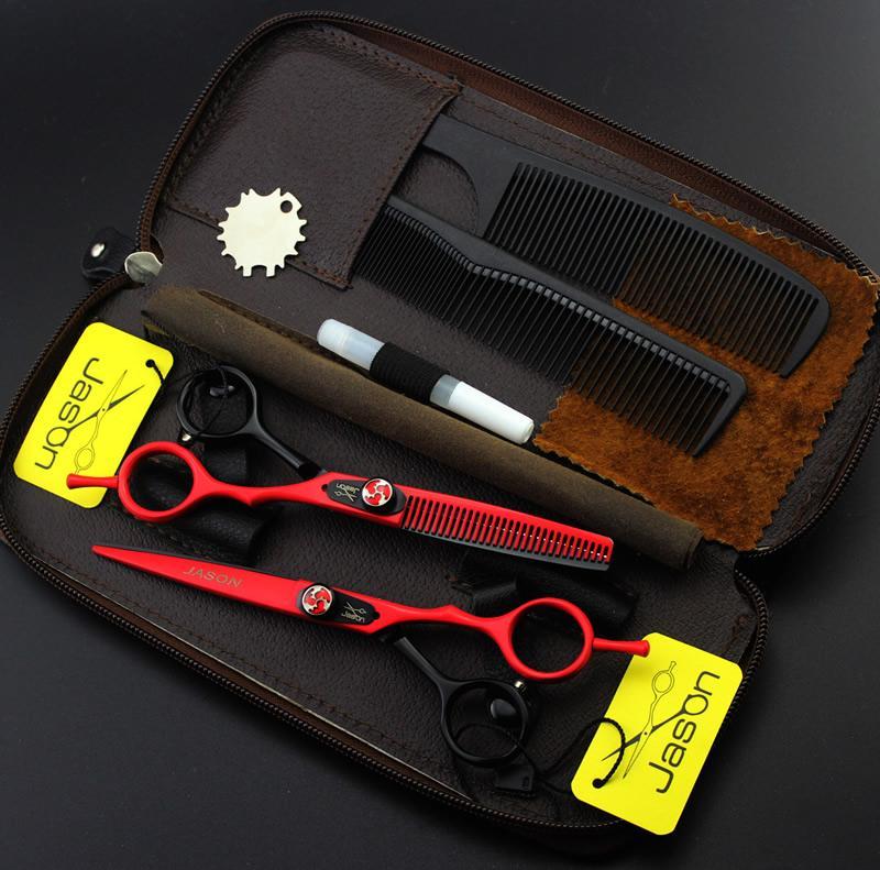 6.0 Inch Jason Forbici per capelli Forbici professionali per parrucchiere Kit taglio forbici assottigliamento JP440C Barber Scissors, LZS0520