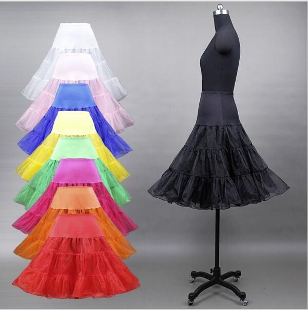 Hot Sale Short Petticoat For Wedding A Line Vintage Tulle Petticoat Crinoline Underskirt Rockabilly Swing Tutu Skirt Slip
