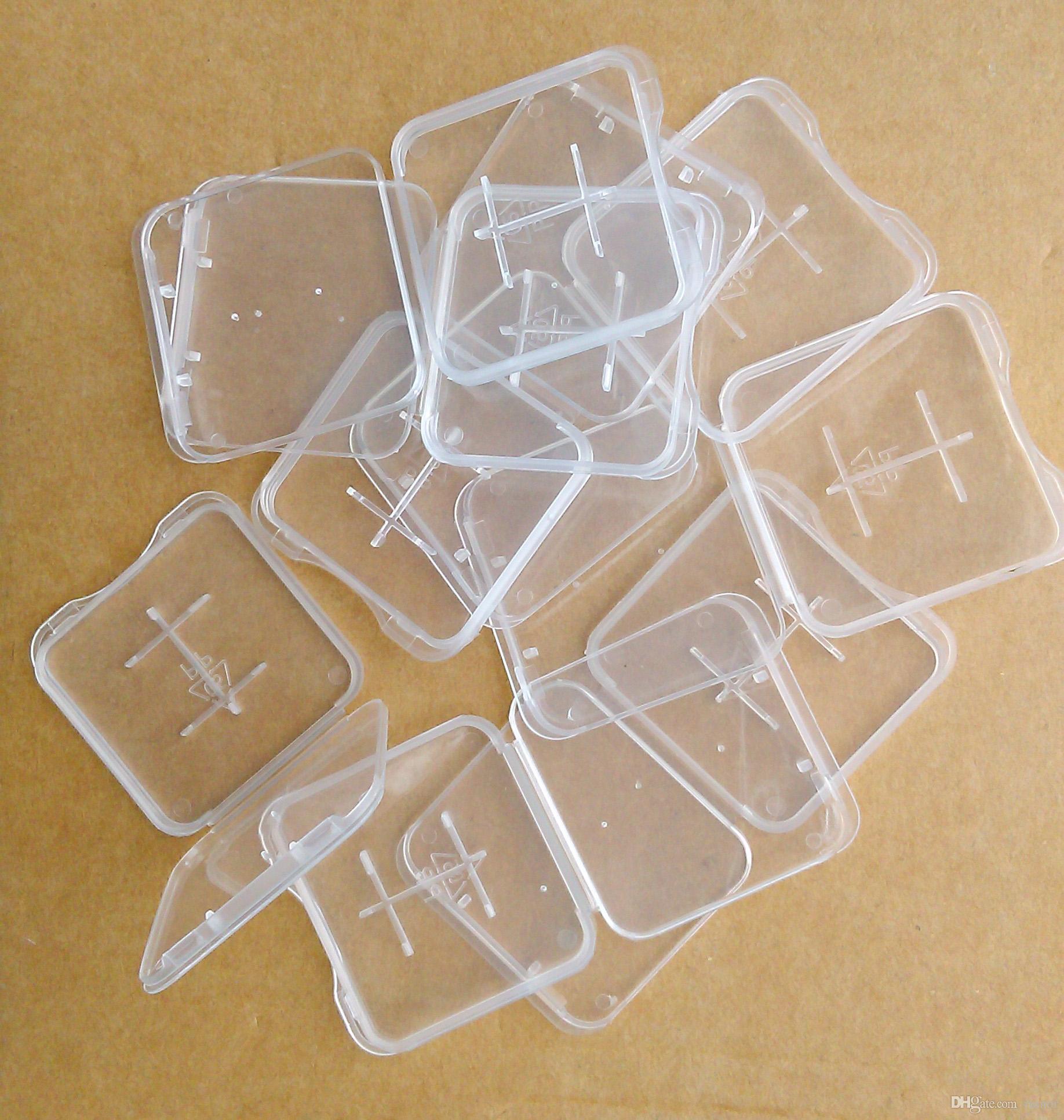 100 st PP-plast TF 1GB 2GB 4GB 8GB Micro SD-minneskortfodral
