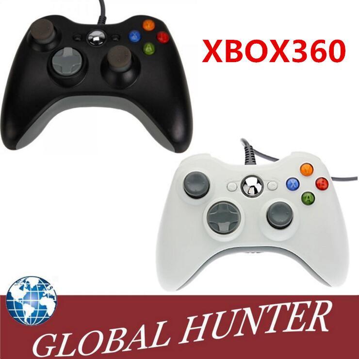 Usb Wire Game Controller Xbox 360 Gamepad Black Pc Xbox360 Joypad ...