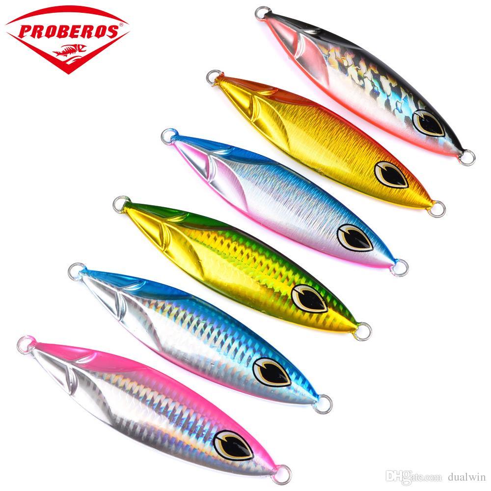 6PC Jigging Lure Lead fish 180G/11.5CM Metal Jig Fishing Lure Paillette Knife Wobbler Artificial Hard Bait Laser Body
