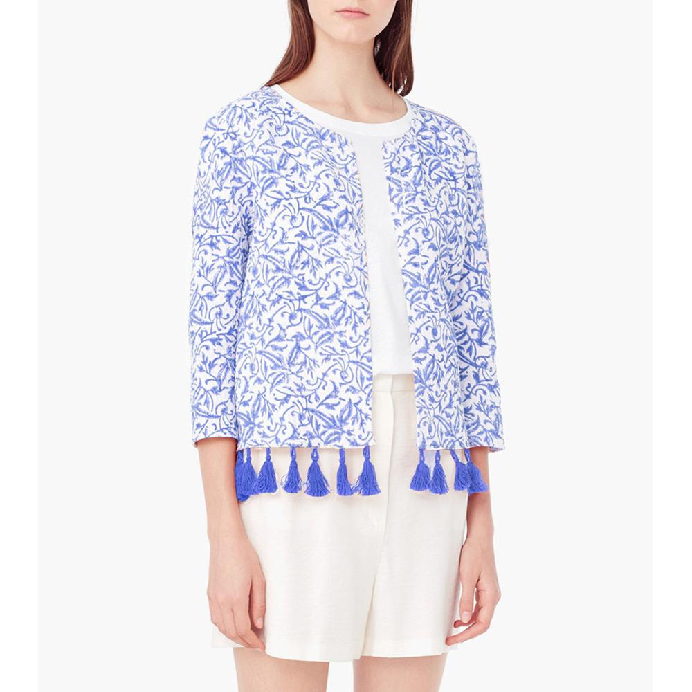 Wholesale- Spring Summer Basic Jacket Coat Women Thin Short Ethnic Jackets Coats With Fringe Casual Outerwear Bolero Veste