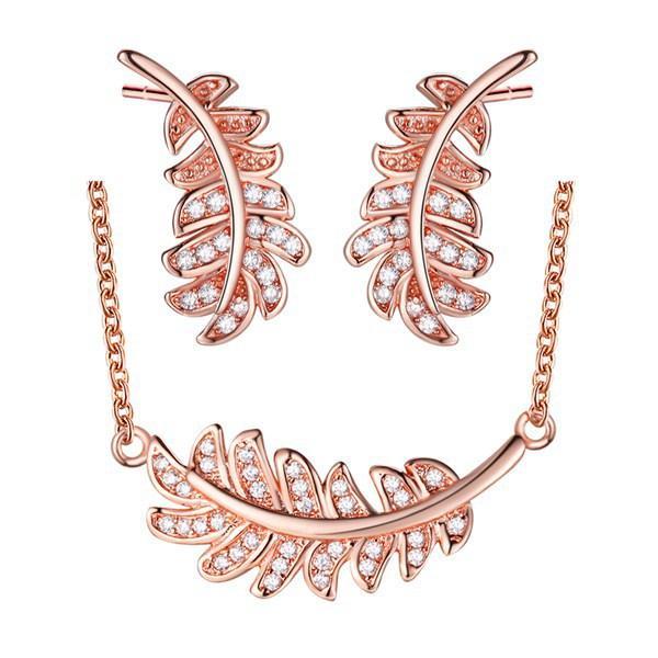Set placcato in oro di orecchini in argento sterling 925, collana, nuovo set di cristalli