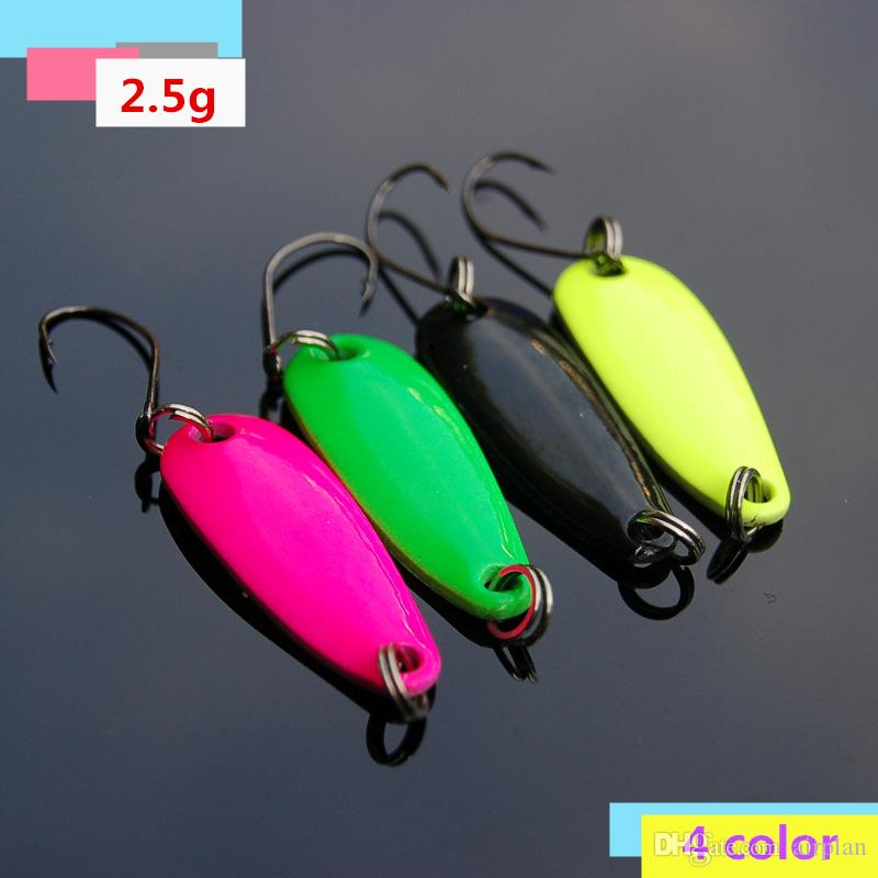 wholesale Sinking Jigging Metal Spoon Fishing Lure Artificial Bait Wobbler Hard Lure Slice Fly Fishing Accessories Pesca Tackle Sharp Hooks