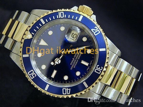 Venda quente homens relógio masculino relógio relógios pulseira de aço inoxidável azul rosto pulso 05