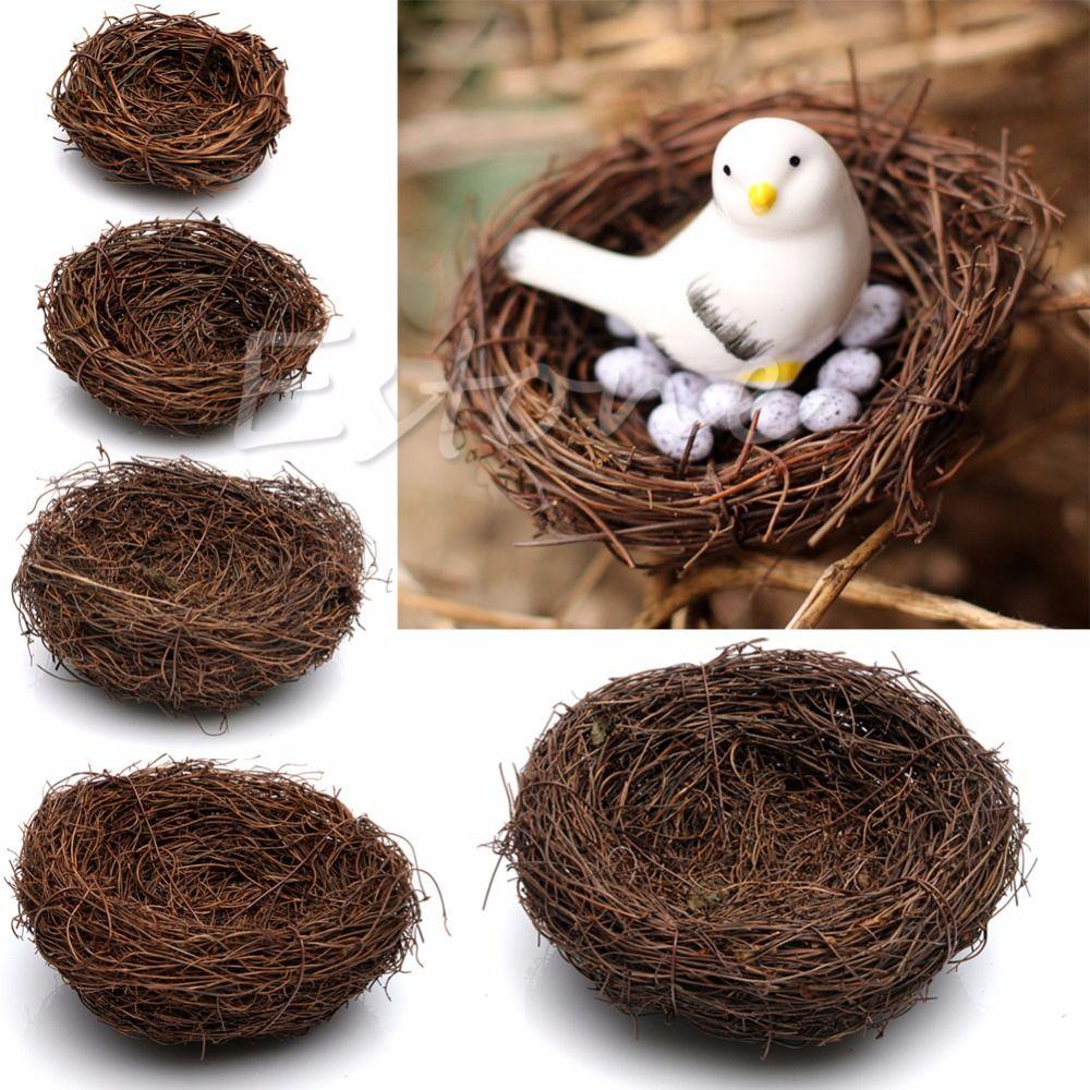 Sale  Handmade Vine Brown Bird Nest House Home Nature Craft Holiday Decor 1pc