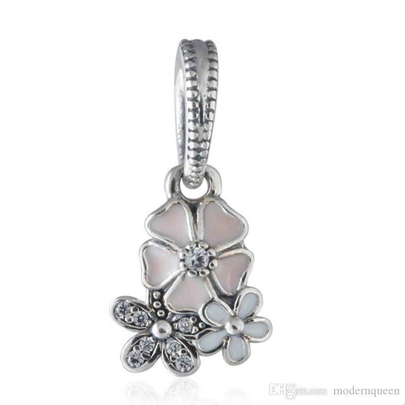 Blooms Poetic Blooms Ciondolo Fascino Fiore Perline S925 Sterling Silver adatti per braccialetti originali di buona qualità 791824enmx Aleh9