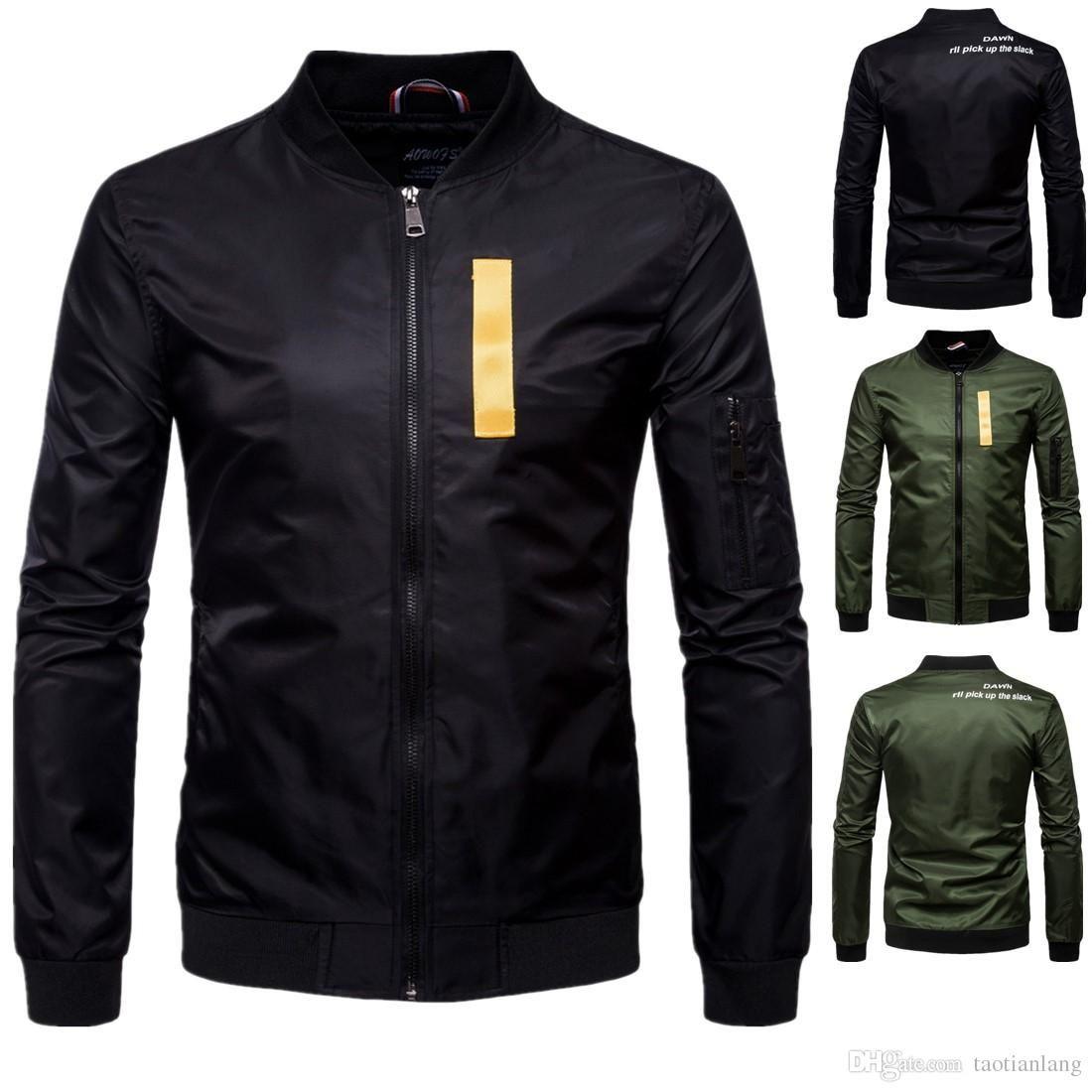 Giacche da baseball da uomo autunno moda cappotti maschili casual slim bomber giacca volanti tuta sportiva hip hop giacche uomo t170715