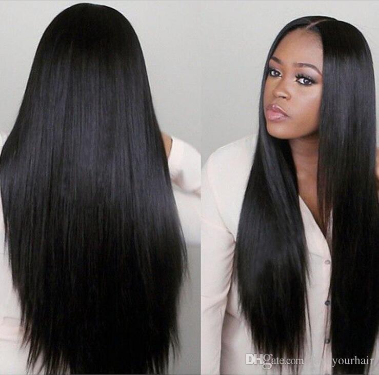 Color natural brasileño de las pelucas rectas sedosas del cabello humano brasileño de la simulación recta sedosa para las mujeres negras