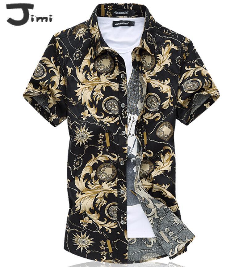 Gros-hommes chemise 2015 été nouvelles chemises hommes design rétro chemise décontractée hommes plus la taille 4xl 5xl 6xl