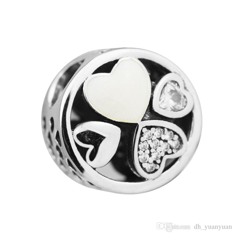 2017 Mother's Day Hearts of Love Charm 100% 925 Sterling Silver Bead Fit Pandora Charms Bracelet Authentic DIY Fashion Jewelry