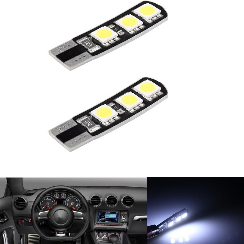Lampe blanche T10 6-SMD 194 168 LED Lampe de largeur de queue de voiture sans erreur Canbus 12v 20pcs