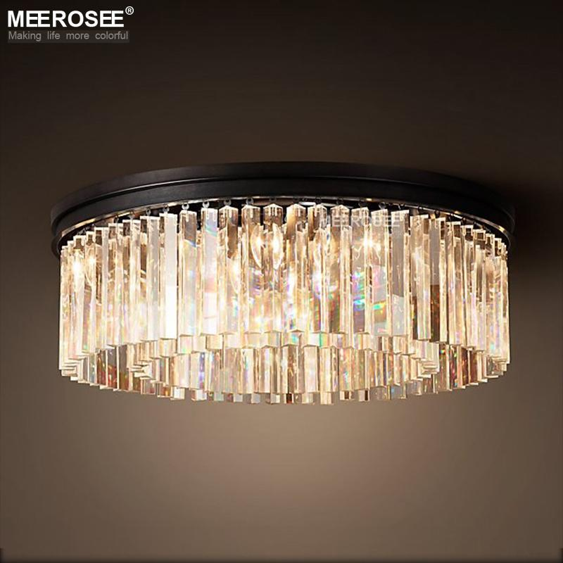 Luxurious Crystal Hanging Light Fixture Round Crystal Chandelier Luminaire Drop Lamp For Living Room Dining Room Restaurant Cafe Seeded Glass Pendant Light Bathroom Pendant Lights From Meeroseelight 376 19 Dhgate Com