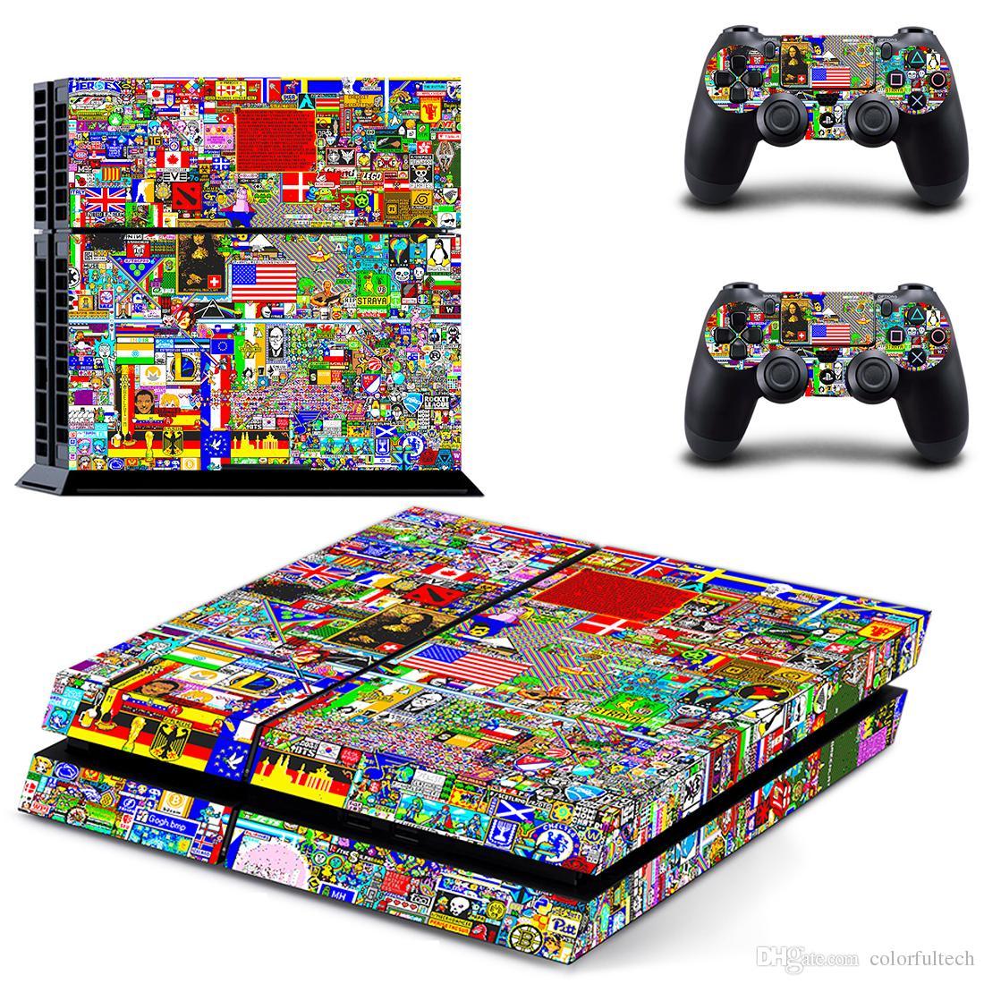 La etiqueta adhesiva para la piel más caliente de Graffiti PS4 para PlayStation 4 Consola y controladores Calcomanía de vinilo con vinilo