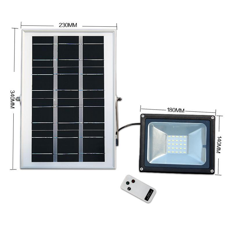 LED Flood Solar Lights 500LM 25LEDs 600LM Aluminum Diecasting Remote Controller Garden Path Lamps Outdoor Waterproof IP65 Security Lighting