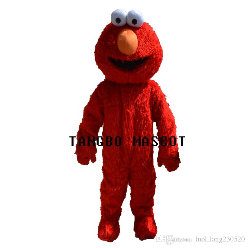 Rue Sésame rouge Elmo mascotte Costume Party Costumes Chirstmas Costume COOKIE mascotte de costume MONSTER Taille adulte