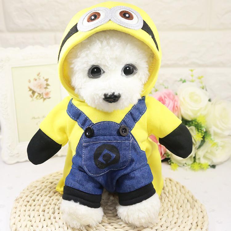 2021 Spring Dog Odzież Płaszcze Bawełniane Nosić Kurtki Jesienne Kurtki Cosplay Kostium z Czapka Chihuahua Bluzy Małe zwierzęta Dostawca Ubrania