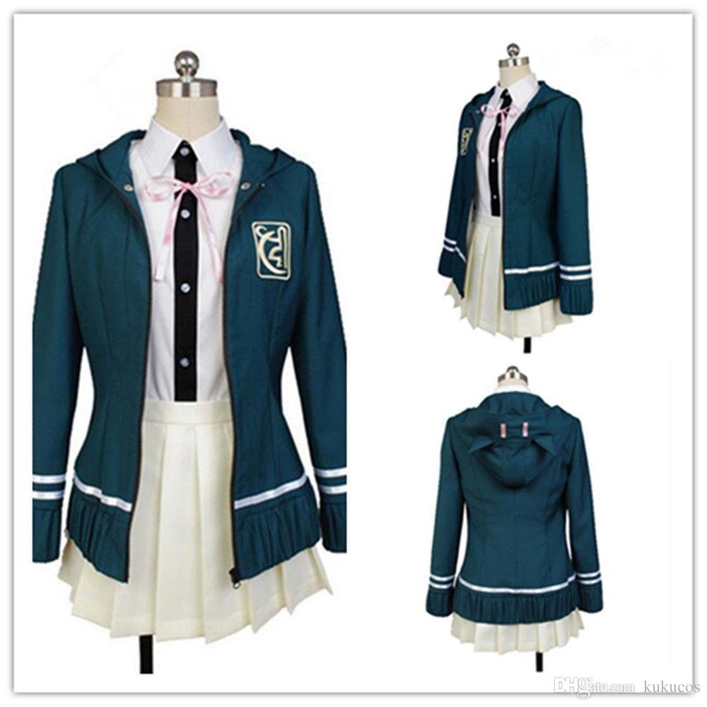 Kukucos Anime Danganronpa Chiaki Nanami Uniforme Full Set Coat + costume cosplay Skirt + Blouse Migliore regalo per le donne Jung