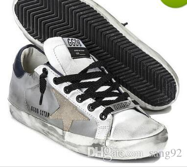 Golden Goose/GGDB Shoes Silver Sequined