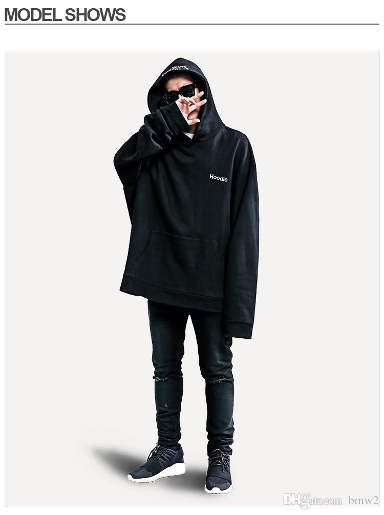 2019 Oversized Extra Long Sleeve Men Sweatshirt Hooded Loose Lazy Hoodies Hip Hop Male Clothing From Bmw2, $39.16 | DHgate.Com