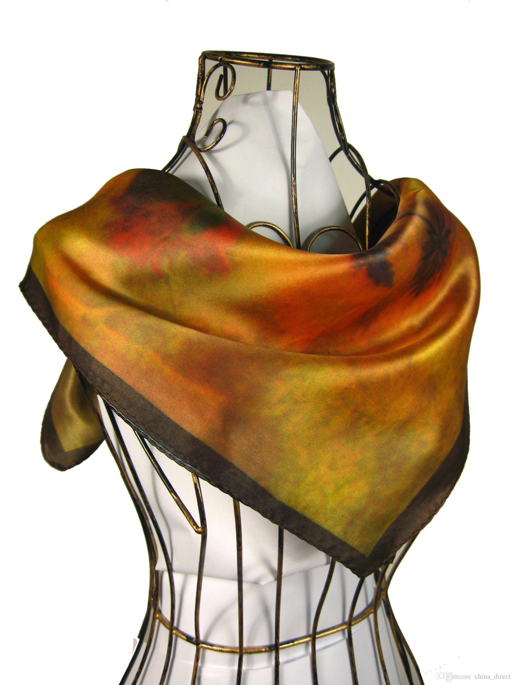 Gorgeous Square 100% Seide Schals Schal Neckscarf Schal Wrap Schals Wrap Poncho 13pcs / lot # 1845