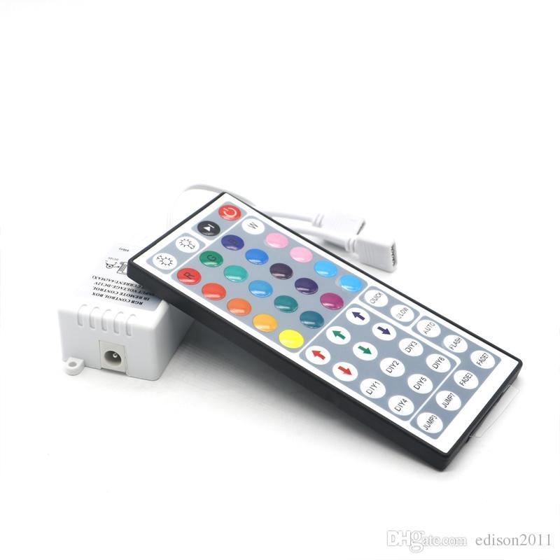 Edison2011 doppi Connettori uscita DC12V 6A Controller RGB IR di 44 chiavi dimmer per due rotoli 3528 2835 5050 LED controlling