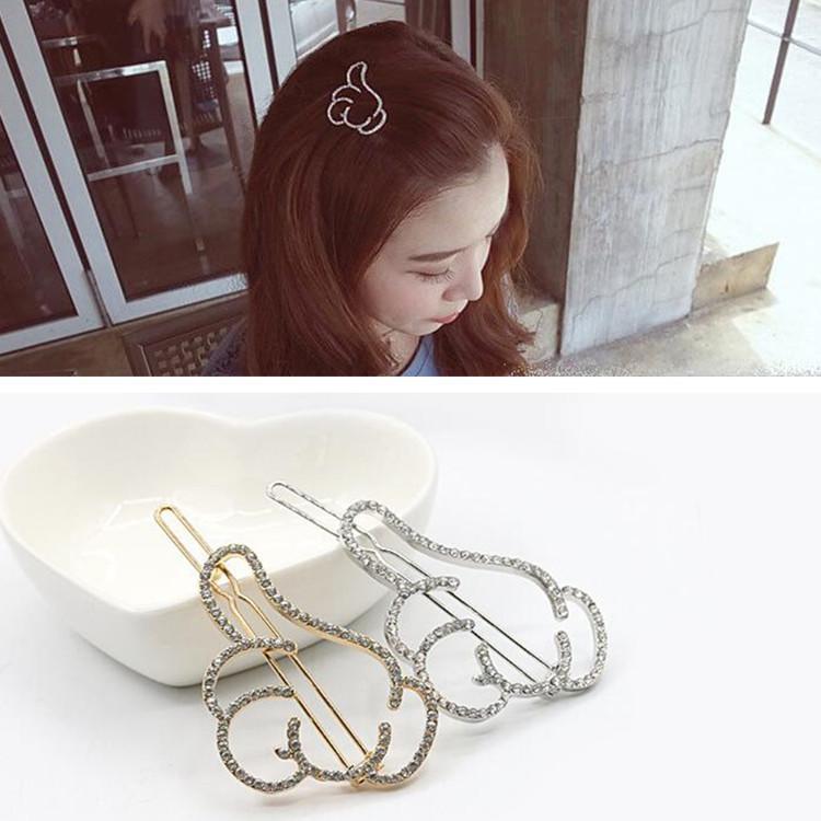 Perni di capelli di cristallo Fermagli per capelli per le donne Accessori per gioielli di capelli d'oro Fermagli per capelli in lega di strass dorati