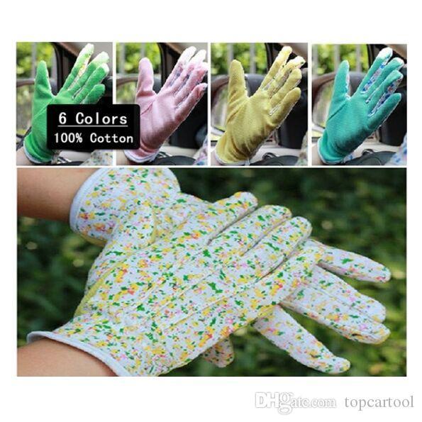Guanti di sicurezza per giardino, 10pairs Fashion Glove 100% cotone antiscivolo Guanti da giardino per donna