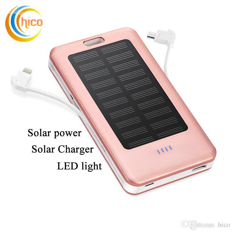Высокое качество 10000 мАч Солнечное Зарядное Устройство и Батарея Панели Солнечных Батарей портативный зарядка сокровище Алюминиевый Корпус с Фонариком